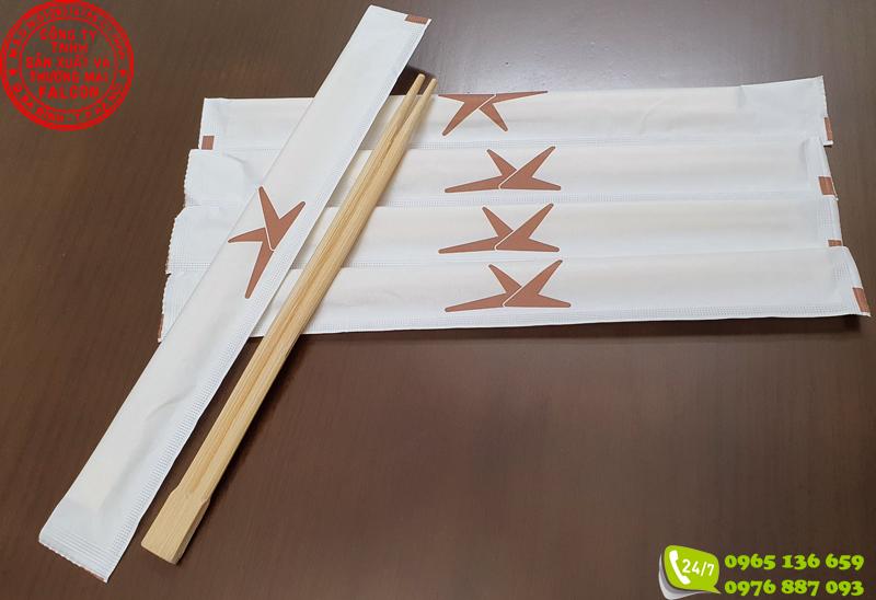 Sản phẩm đũa ăn dùng 1 lần chất lượng cao in ấn logo thương hiệu